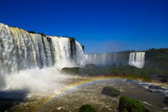 Argentinian side of Iguassu Falls. Iguassu Falls in South America viewed from the Argentina side Royalty Free Stock Photos