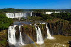 Argentinian side of Iguassu Falls. Iguassu Falls in South America viewed from the Argentina side Royalty Free Stock Image