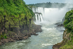 Argentinian Side of Iguazu Falls. In Misiones Province, Argentina Royalty Free Stock Image