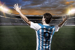 Argentinian soccer player Stock Image