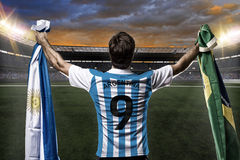 Argentinian soccer player Royalty Free Stock Images
