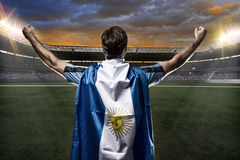 Argentinian soccer player. Celebrating with the fans Stock Photography