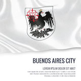 Argentinian state Buenos Aires City flag. Royalty Free Stock Photos