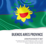 Argentinian state Buenos Aires Province flag. Stock Images