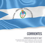 Argentinian state Corrientes flag. Royalty Free Stock Photography