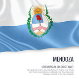 Argentinian state Mendoza flag. Stock Photo