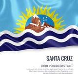 Argentinian state Santa Cruz flag. Stock Photos
