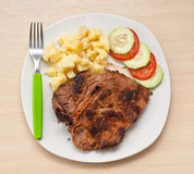 Argentinian steak with salad. Stock Photography