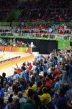 Argentinian volleyball fans at Maracanazinho Royalty Free Stock Photos