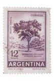 ARGENTINIEN - CIRCA 1964: Ein Stempel gedruckt in Shows rotes Q Stockbilder