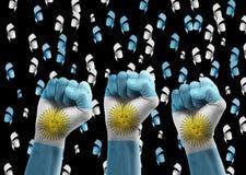 Argentinien-Fans Stockfotos