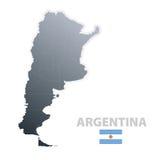 Argentinien-Karte mit amtlicher Markierungsfahne Lizenzfreies Stockfoto