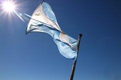 Argentinien-Markierungsfahne Stockfotografie