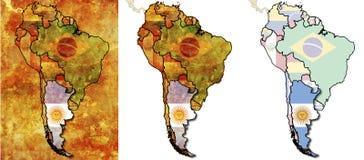 Argentinien-Markierungsfahnengegend Lizenzfreie Stockbilder