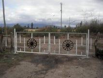 Argentinien-Ranchlandeintritt Stockfoto