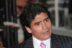 Argentinische Fußballanzeige Diego Maradona stockbild