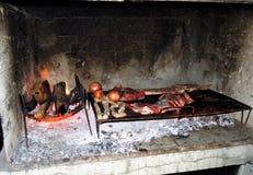 Argentinisches asado Stockfotografie