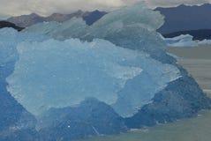 argentino冰川在upsala附近的冰山湖 免版税库存照片