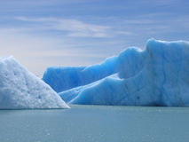 argentino del fuego冰山lago tierra 库存照片