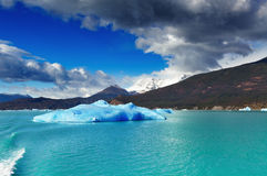Argentino Lake, Patagonië, Argentinië Stock Afbeelding