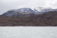 Argentino Lake Patagonia. The snow covered mountains on the shore of Argentino lake in argentinian patagonia Stock Image