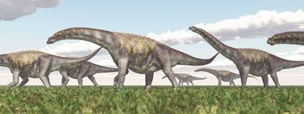 Argentinosaurus de dinosaure Images libres de droits