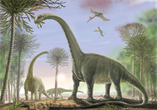 Argentinosaurus de Titanosaur Imagen de archivo libre de regalías