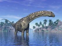 Argentinosaurus dinosaur - 3D render Royalty Free Stock Images