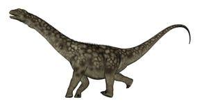 Argentinosaurus dinosaur running - 3D render Royalty Free Stock Photos