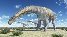 Argentinosaurus do dinossauro ilustração stock