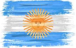 Argentinsk flagga med slaglängder för målarfärgborste royaltyfri illustrationer