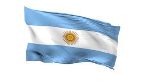 Argentinsk flagga som vinkar på en vit bakgrund