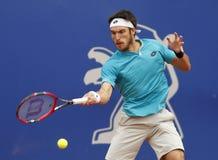 Argentinsk tennisspelare Leonardo Mayer Fotografering för Bildbyråer