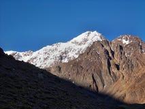 Argentinska Anderna - expedition till Vall de Colorado royaltyfri bild