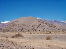 Argentinska Anderna - expedition till Vall de Colorado fotografering för bildbyråer