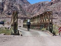 Argentinska Anderna - expedition till Vall de Colorado arkivbilder