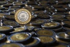 Argentinskt mynt Fotografering för Bildbyråer