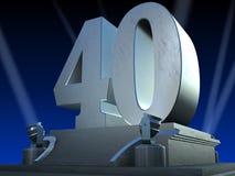 Argento 40 - stile della pellicola Immagini Stock