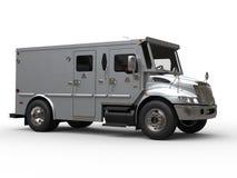 Argento blu automobilistico di trasporto corazzato dei contanti - colpo dello studio illustrazione vettoriale
