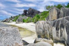Argento del ` di fonte d di Anse - Seychelles immagini stock