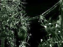 Argento del nuovo anno nel monocromio verde Immagine Stock