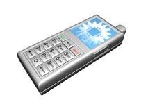 argento del telefono delle cellule 3D Immagini Stock