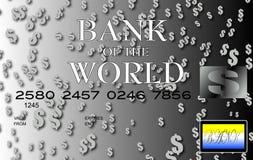 Argento della carta di credito del dollaro Fotografia Stock Libera da Diritti