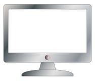 Argento dello schermo di computer con fuori dal bottone Immagine Stock