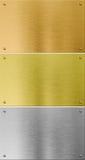 Argento di alta qualità, oro e metallo del bronzo Immagine Stock