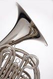 Argento di corno francese isolato su bianco Fotografia Stock
