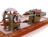 Argento di modello del vapore Fotografia Stock