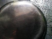 Argento di piastra metallica della latta dei piatti immagini stock libere da diritti