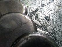 Argento di piastra metallica della latta dei piatti fotografie stock