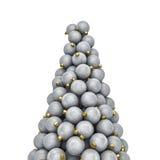 Argento di punta degli ornamenti di Natale Immagini Stock Libere da Diritti